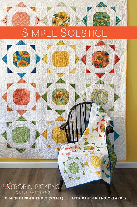 Simple Solstice Quilt Pattern from Robin Pickens