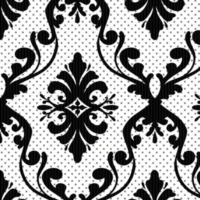 Simply Fashionista - White Damask