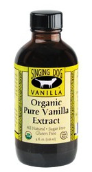 Singing Dog Organic Pure Vanilla Extract 59ml