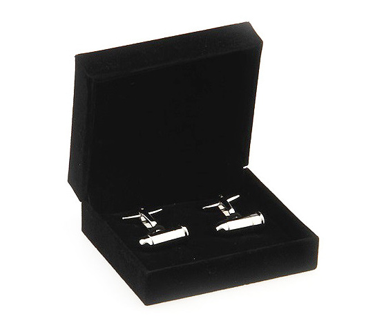 Single cufflink storage box