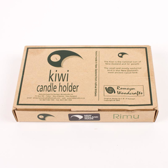 single kiwi candle holder box