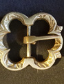 Single Medieval Brass Flower Buckle
