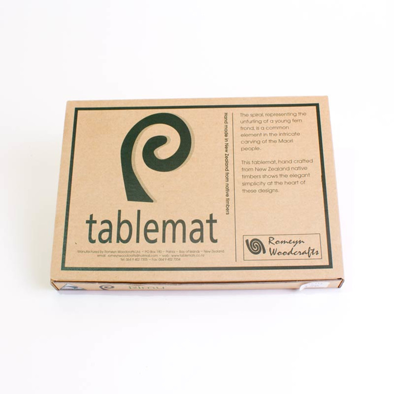 single spiral table mat package