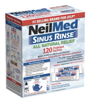 Sinus Rinse 120 Sachets Complete box