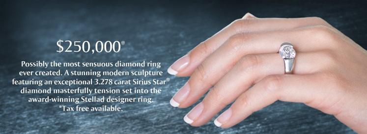 Sirius Star Stellad Diamond Ring