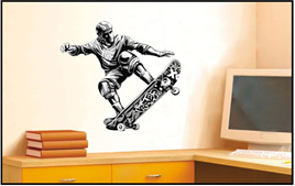 Skateboard Wall Decal