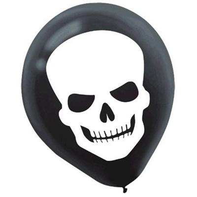 Skeleton Balloons x 15 pack