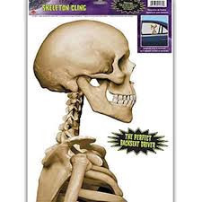 Skeleton Car Cling
