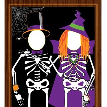 Skeleton Photo Opportunity Banner