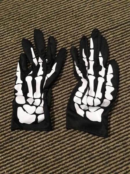 Skeleton To the wrist Gloves - Thin