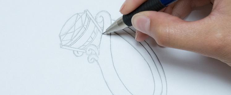 Sketching an engagement ring design