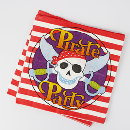 Skull and Crossbones Napkins x 16