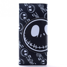 Skull Cartoon Wallet - Black & White