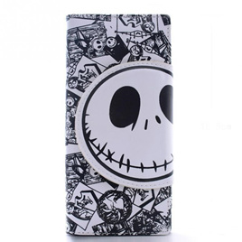 Skull Cartoon Wallet - White & Black