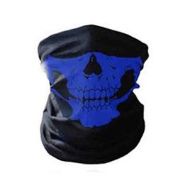 SKULL HALF MASK SCARF - BLUE