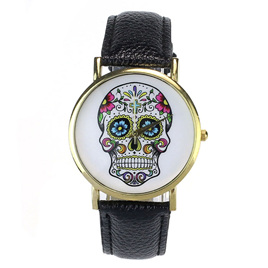 Skull Watch - Black