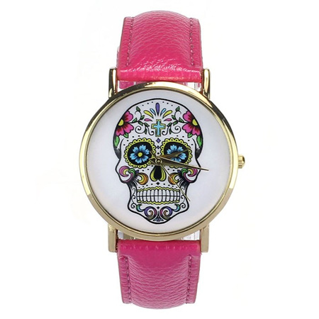 Skull Watch - HOT PINK