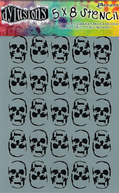 Skulls 5 x 8 in