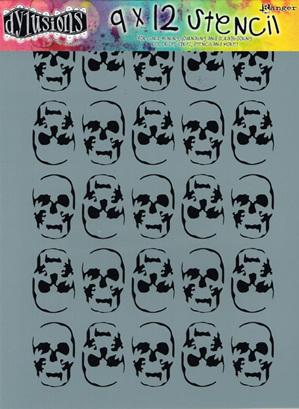 Skulls 9 x 12 in