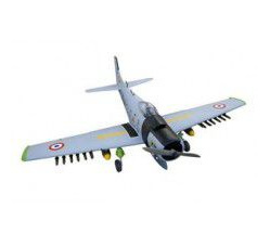 Skyraider Warbird 10cc (Matte finished) Tiger version with Rockets, Span 160cm, Engine 10-15cc by Se