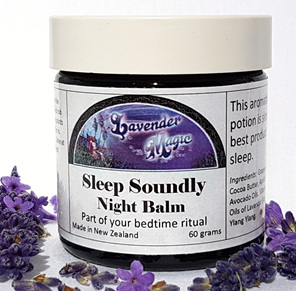 Sleep Soundly Night Balm with lavender and ylang ylang by Lavender Magic NZ