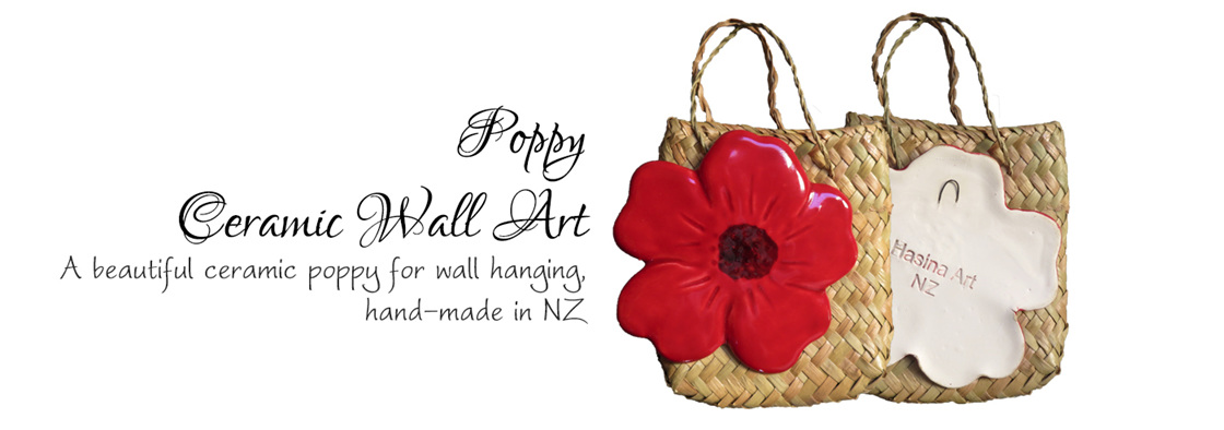 Ceramic Poppy Wall Art