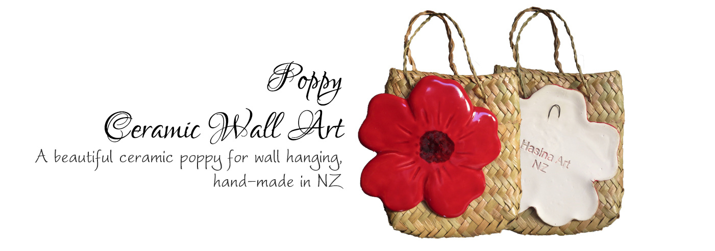 Ceramic Poppy Wall Art