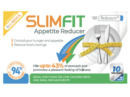 SLIMFIT Appetite Reducer 60 Capsules (Formerly XLS Medical)