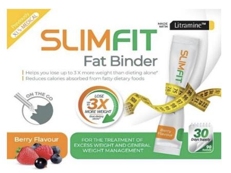 SLIMFIT Weight Loss Fat Binder Sachets 90 Berry
