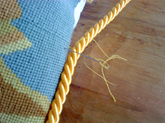 Slip stitch piping