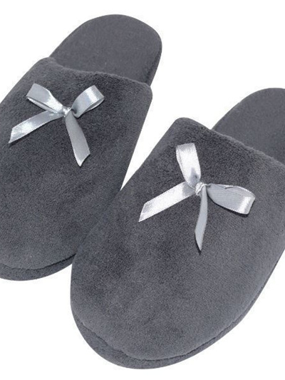 SLIPPER DARK GREY MED