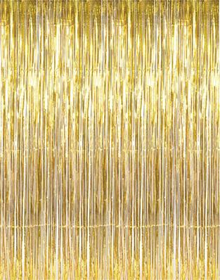 Slit Foil Curtain 2 Ply - Gold 91.4cm x 2.43 m