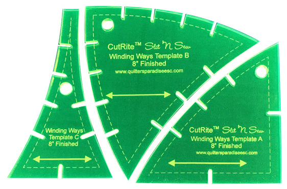 Slit N Sew Winding Ways Template Set