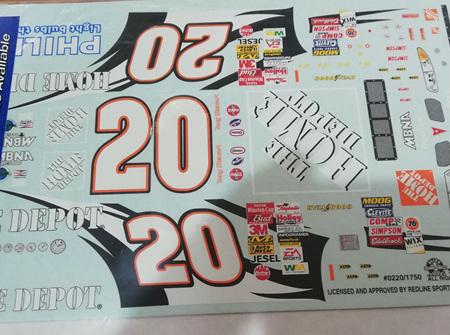 Slixx #20 Home Depot Pontiac Decals (SLX0220/1750)