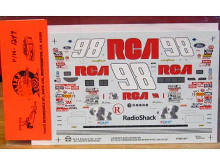 Slixx RCA Thunderbird John Andretti