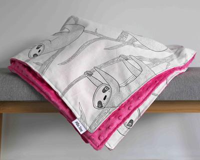 Sloths Life Pink Blanket