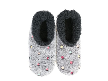 Slumbies Lotsa Dots Charcoal XL