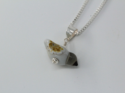 Small bird pendant - grey
