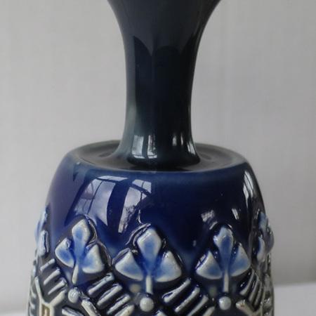 Small blue Doulton Lambeth vase