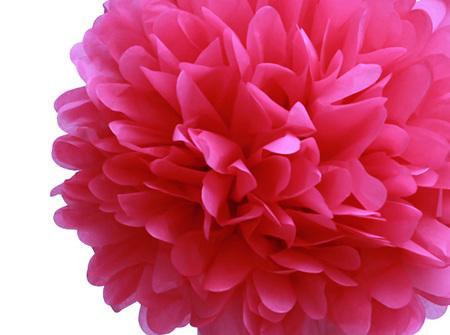 Small Candy Pink pom pom - 21cm