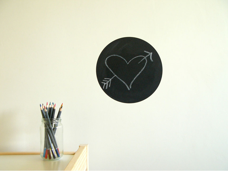 Small chalkboard dot wall decal