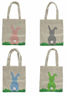 Small Easter canvas bag - 17cm x 19cm x 1