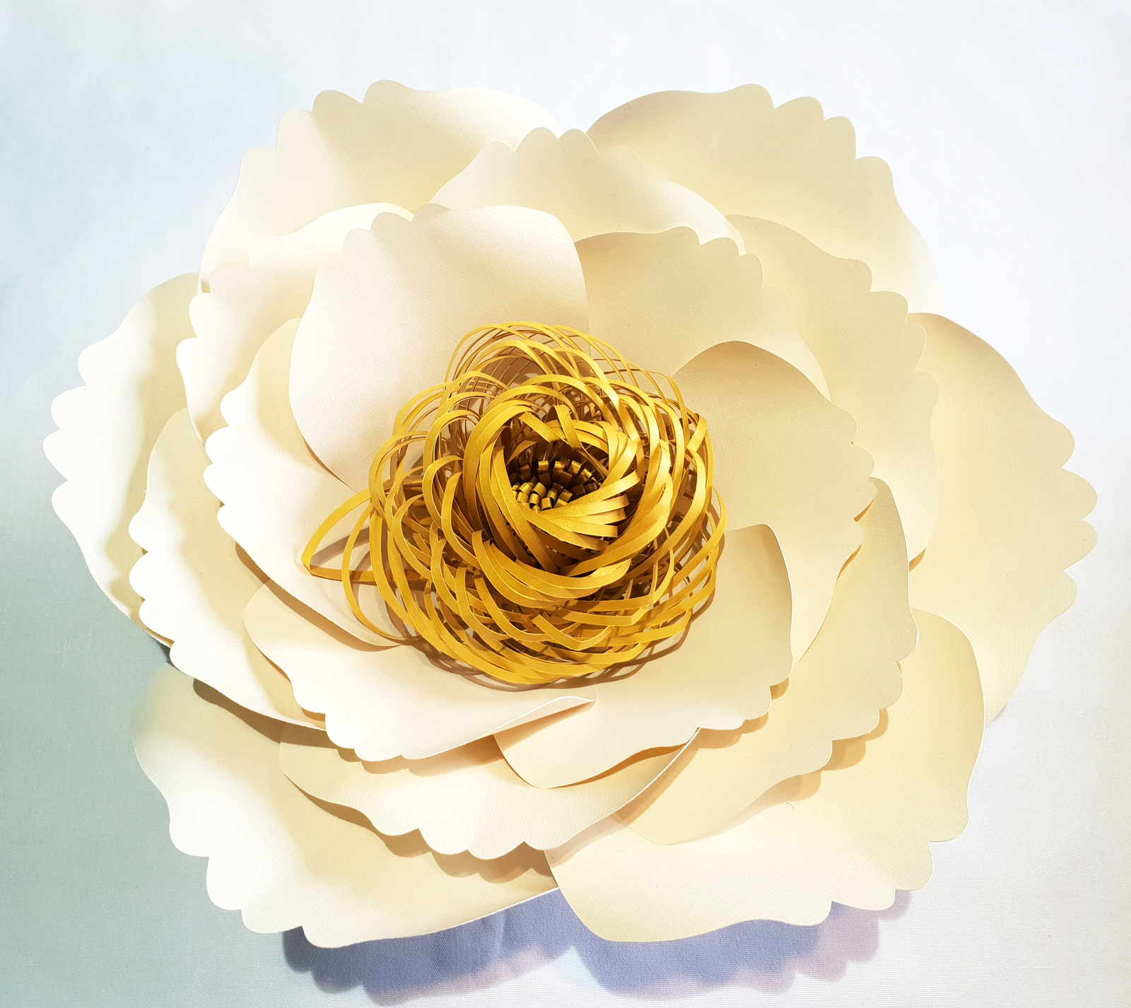 Small Emma Paper Flower With Spiral Centre Festive Creations