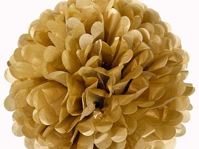 Small gold pom pom - 21cm