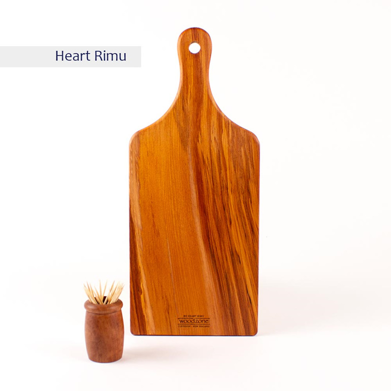 small handle board heart rimu