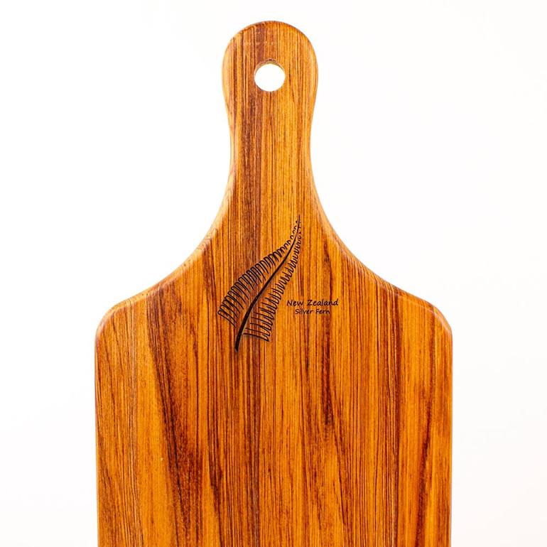 small handle board - heart rimu - silver fern