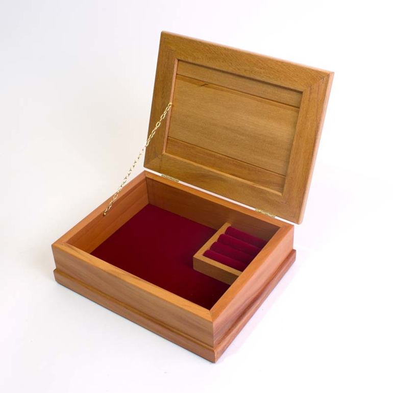 small jewellery box burgundy