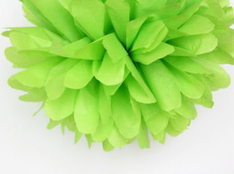 Small lime pom pom - 21cm