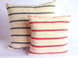 Small Navy Stripe Cushion