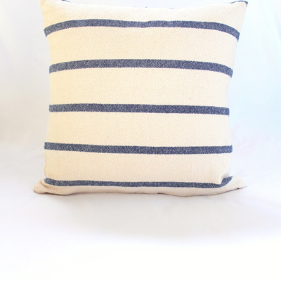 Small Navy Stripe Cushion